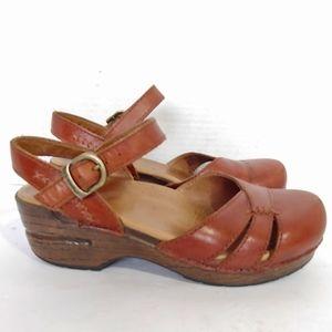 Dansko Brown leather clog sandals